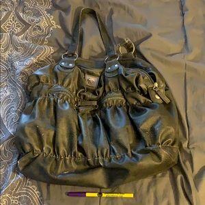 python green/grey purse